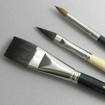 Trinity Brush Artist Set of 3 Art Brushes