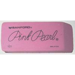 Pink Pearl® Large Erasers: Rubber, 24-Box, Manual, (model 101FC), price per dozen (12-pack)