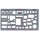 "Pickett® House Furniture Indicator Template: 1/4"" = 1', (model 111PI), price per each"