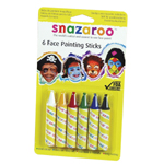 Snazaroo™ Face Painting 6-Stick Primary Set: Multi, Stick, (model 1160600), price per set