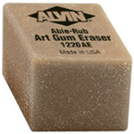 "Alvin® 1"" x 1"" x 3/4"" Art Gum Erasers 24/Box: Gum, 24-Box, Manual, (model 1220AE), price per 24-Box box"