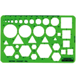 Rapidesign® Metric Pocket Pal Template: 100 mm, (model 2050R), price per each