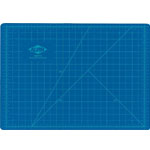 "Alvin® HM Series Blue/Gray Self-Healing Hobby Mat 18 x 24: Black/Gray, Blue, Grid, Vinyl, 18"" x 24"", 2mm, Cutting Mat"