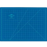 "Alvin® HM Series Blue/Gray Self-Healing Hobby Mat 12 x 18: Black/Gray, Blue, Grid, Vinyl, 12"" x 18"", 2mm, Cutting Mat"