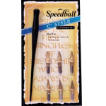 Speedball® C-Style Lettering Set: Pen Holder, Calligraphy, (model H2957), price per set