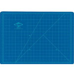 "Alvin® HM Series Blue/Gray Self-Healing Hobby Mat 8 1/2 x 12: Black/Gray, Blue, Grid, Vinyl, 8 1/2"" x 12"", 2mm, Cutting Mat"