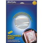 "Ultraoptix® 2x Hard Magnifier Sheet: 2x, 8 1/2"" x 11"", Handheld, (model HL-PH), price per each"