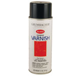 Grumbacher® Damar Gloss Varnish Spray for Oils 11oz: Gloss, Spray Can, 11 oz, Varnish, (model GB545), price per each