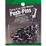 "Moore 1/2"" Push-Pins 20-Pack: 1/2"", (model M4-20), price per pack"