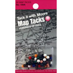 "Moore 5/16"" Map Tacks 50-Pack: Multi, 5/16"", (model M100A), price per pack"