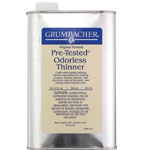 Grumbacher® Pre-Tested® Odorless Paint Thinner 32oz: Can, 32 oz, Solvents