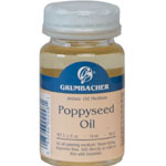 Grumbacher® Poppy Seed Oil: Bottle, 2.5 oz, Poppy Seed Oil, (model GB5622), price per each