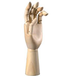 "Heritage Arts™ 11 3/4"" Left Hand Manikin: Wood, 12"", Mannequin, (model CW302), price per each"
