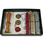 Manuscript Seal and Wax Set: Metallic, Red/Pink, (model MSH7453SET), price per set