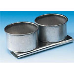 "Heritage Arts™ Aluminum Palette Cup Double: Metal, 2 Cups, 1 1/2"", Cup, (model TX40), price per each"