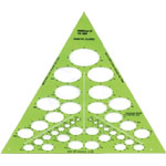"Alvin® Isometric Ellipses Template: 1/8"" - 1 3/4"", (model TD868), price per each"