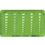 "Alvin® Arrowheads Template: 3 5/8"" x 6"" x .030"", General Purpose, (model TD302), price per each"
