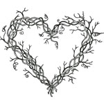 Sarasota Stamps Mounted Rubber Stamp Heart Wreath : Rubber, Mounted, (model SSH-3460), price per each