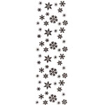 Sarasota Stamps Mounted Rubber Stamp Snowflake Border: Rubber, Mounted, (model SSH-3417), price per each
