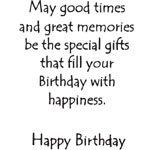 Sarasota Stamps Mounted Rubber Stamp Birthday Set : Rubber, Mounted