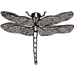 Sarasota Stamps Mounted Rubber Stamp Dragonfly Small: Rubber, Mounted, (model SSD-772), price per each