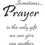 Sarasota Stamps Mounted Rubber Stamp Sometimes Prayer : Rubber, Mounted, (model SSD-1017), price per each
