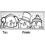 Sarasota Stamps Mounted Rubber Stamp Snowmen To/From : Rubber, Mounted, (model SSD-1002), price per each