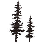 Sarasota Stamps Mounted Rubber Stamp Pine Trees: Rubber, Mounted, (model SSB-3454), price per each