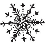 Sarasota Stamps Mounted Rubber Stamp Snowflake 1 : Rubber, Mounted, (model SSB-3358), price per each