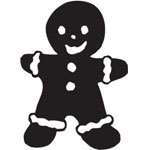 Sarasota Stamps Mounted Rubber Stamp Gingerbread Man : Rubber, Mounted