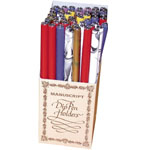 Manuscript Wooden Pen Holder Display: Calligraphy, (model WPH48D), price per each