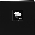 "Pioneer® 12 x 12 Fabric Frame Scrapbook Deep Black: Black/Gray, Fabric, 10 Page Protectors, 12"" x 12"", (model MB10CBF-DB), price per each"