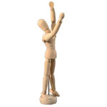 "Heritage Arts™ Unisex Manikin 5 1/2"": Wood, 5 1/2"", Mannequin, (model CW200), price per each"