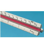 Fairgate 30cm Solid Aluminum Metric Triangular Scale