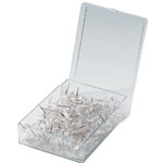 "Alvin® Clear Push Pins: Clear, 3/8"", (model PP100-CL), price per box"