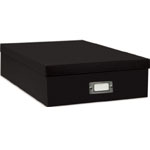 "Pioneer® Acid-Free Scrapbook Storage Box Set: Black/Gray, Paper, 13""l x 14 3/4""w x 3 3/4""h, (model POB12BLK), price per each"