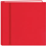 "Pioneer®  Snap Load® 12 x 12 Scrapbook Red: Red/Pink, Fabric, 10 Page Protectors, 12"" x 12"""