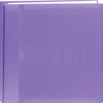 "Pioneer®  Snap Load® 12 x 12 Scrapbook Purple: Purple, Fabric, 10 Page Protectors, 12"" x 12"""