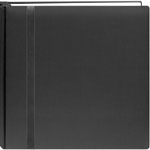 "Pioneer®  Snap Load® 12 x 12 Scrapbook Black: Black/Gray, Fabric, 10 Page Protectors, 12"" x 12"""