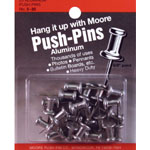 "Moore 5/8"" Push-Pins 20-Pack: 5/8"", (model M5-20), price per pack"