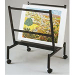 "Heritage Arts™ Small 26"" Wide Poster & Print Rack: 100 Prints, Black/Gray, Steel, 25""d x 26""w x 32""h, Display"