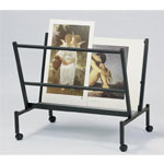 "Heritage Arts™ Large 38"" Wide Poster & Print Rack: 100 Prints, Black/Gray, Steel, 32""d x 25""w x 38""h, Display"