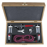 Paasche Model VL-3W Airbrush Set with Deluxe Wood Carrying Case