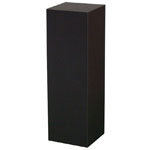 "Xylem Black Laminate Pedestal: 18"" x 18"" Base, 36"" Height"