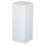 "Xylem White Laminate Pedestal: 18"" x 18"" Base, 18"" Height"