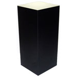 "Xylem Lighted Black Laminate Pedestal: 18"" x 18"" Base, 30"" Height"