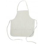 Heritage Arts™ Standard Adult Natural Canvas Artist Apron: White/Ivory, Canvas, Adult, (model CAP2324), price per each