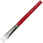 Winsor & Newton™ University Series 237 Bright Long Handle Brush #3: Long Handle, Nylon, Bright, Acrylic, Oil, Watercolor