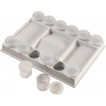 "Heritage Arts™ Removable Cup Palette: Clear, Plastic, 7/8"" x 1"", Cup, (model PP17), price per each"