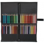 "Heritage Arts™ Easy Pack & Go™ Pencil and Brush Holder: 48 Pencils, 48 Pencils or Brushes, Black/Gray, Nylon, 7"" x 17"", Case, (model PE48), price per each"